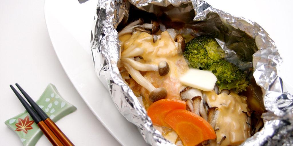 燒烤野菜鮭魚