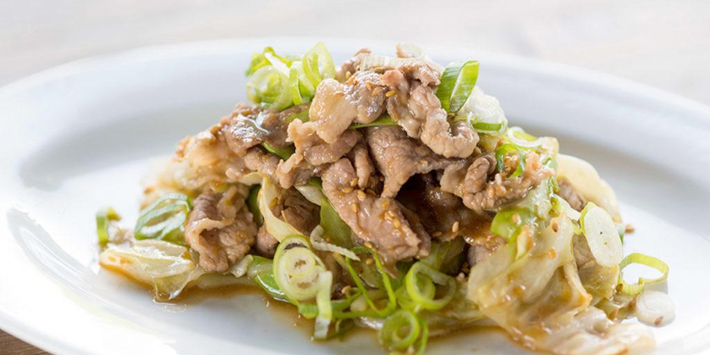 味噌豬肉炒高麗菜