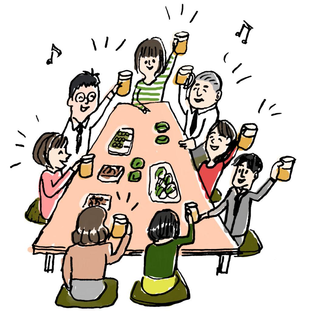 日本酒倒酒